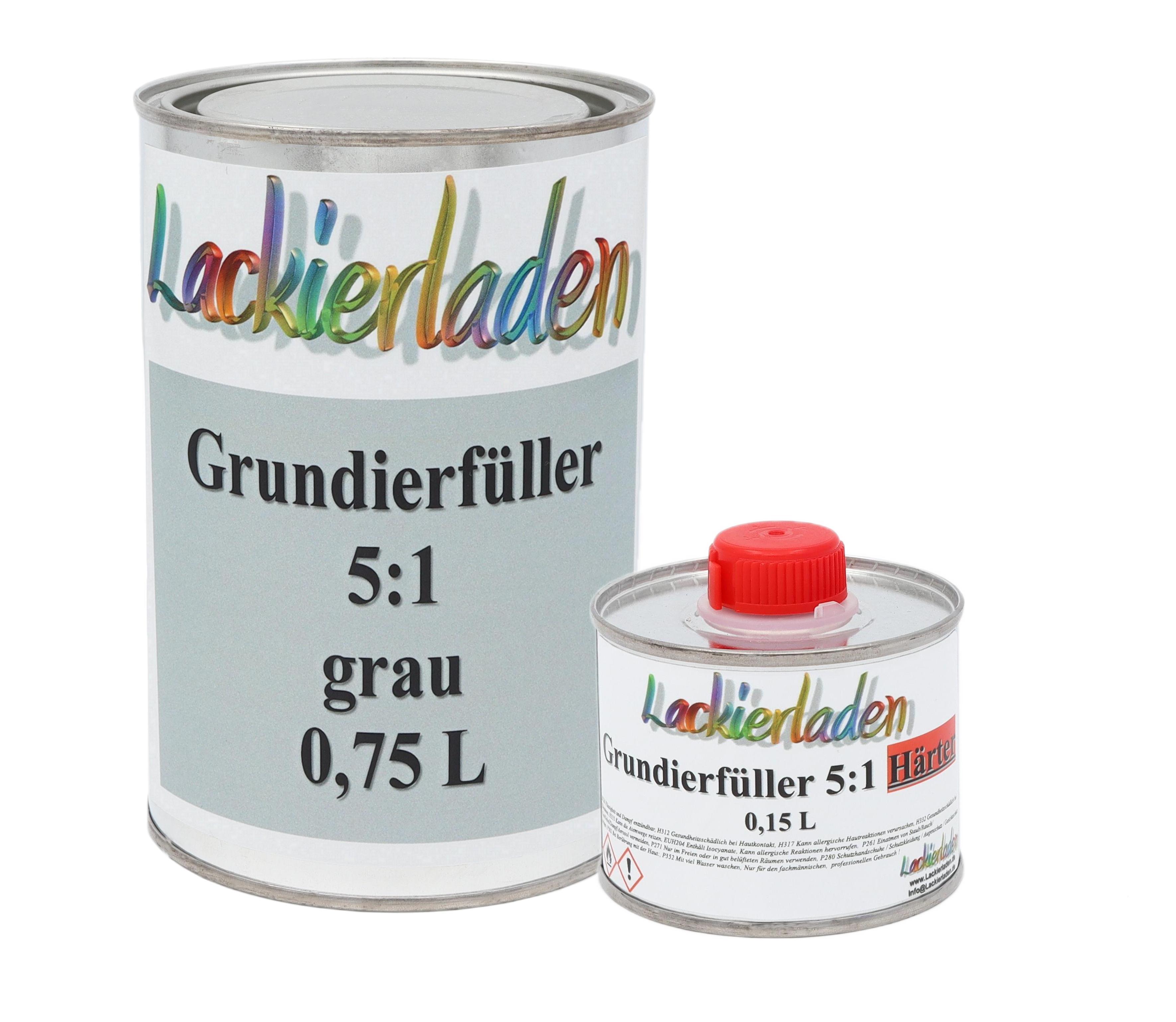 Grundierfüller 5:1 grau inkl. Härter Set 0,96 L