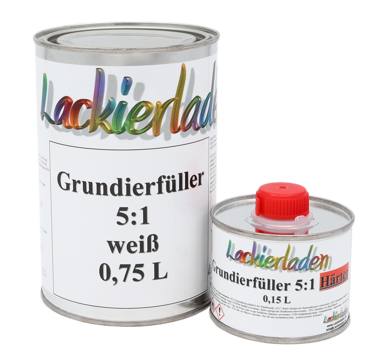 Grundierfüller 5:1 weiß inkl. Härter Set 0,96 L