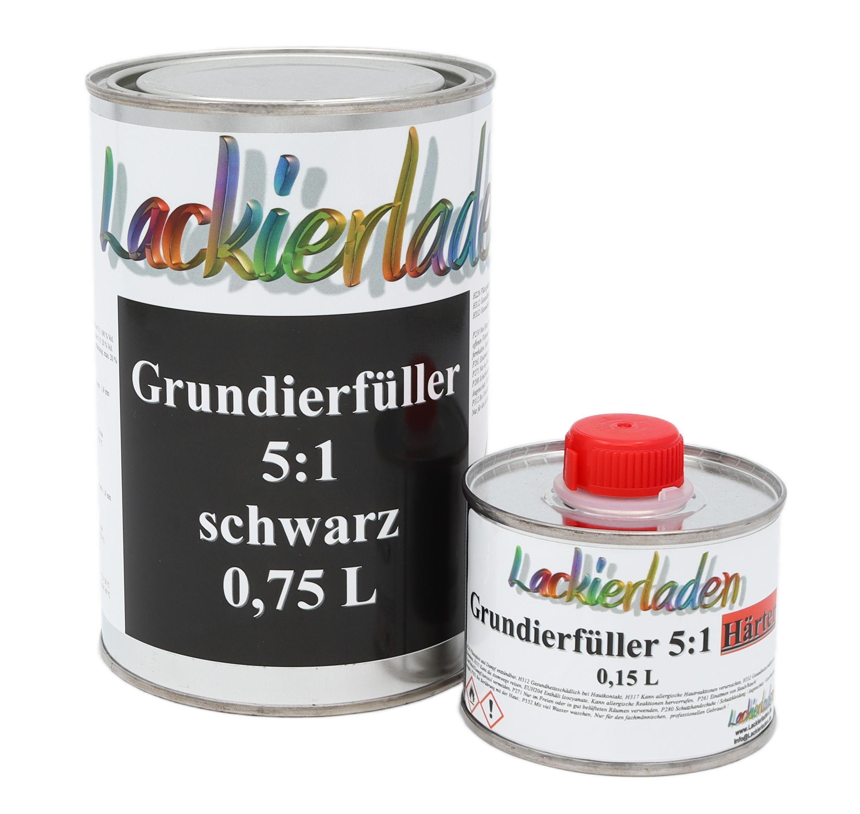 Grundierfüller 5:1 schwarz inkl. Härter Set 0,96 L