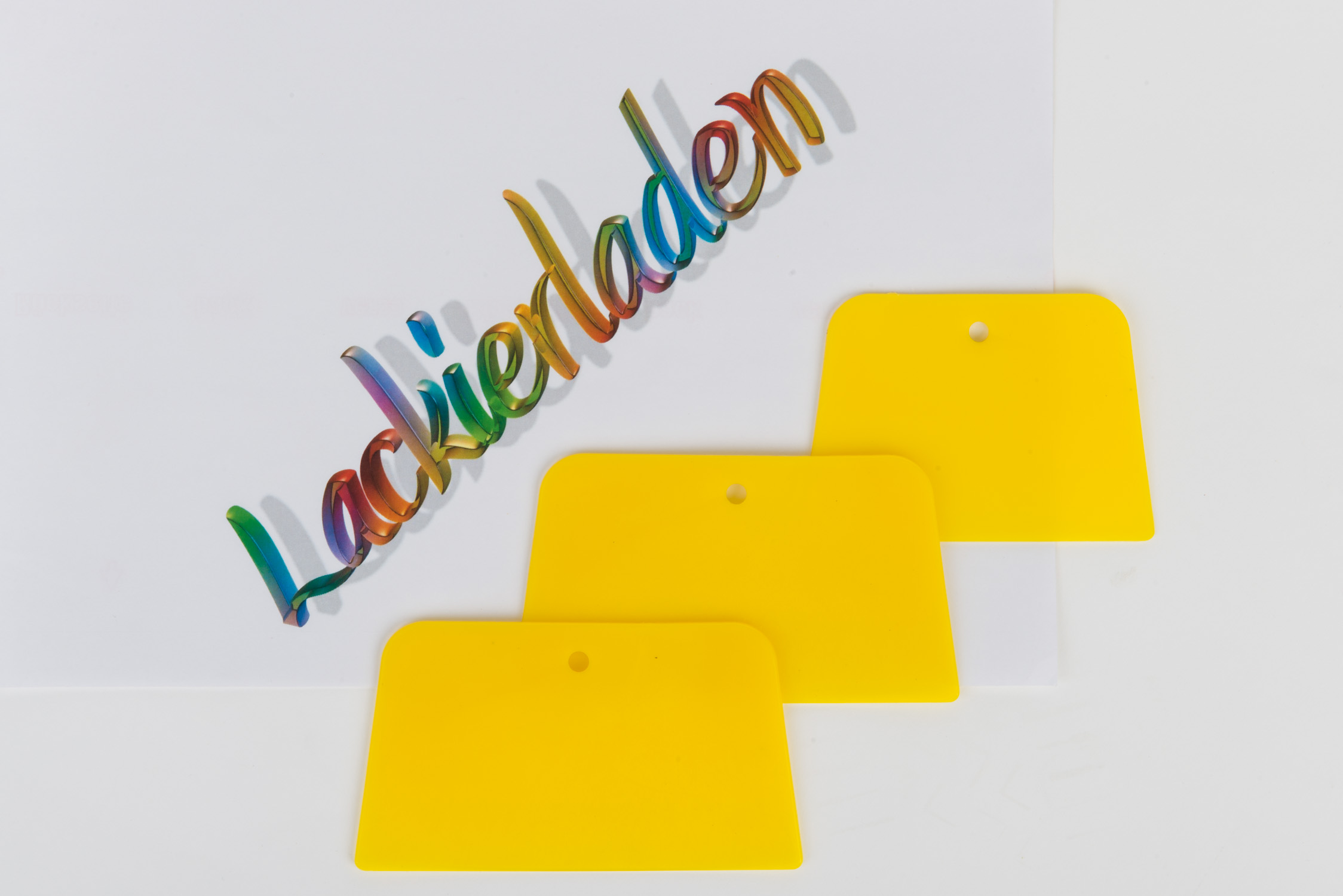 Japanspachtel Set Plaste groß 3 teilig