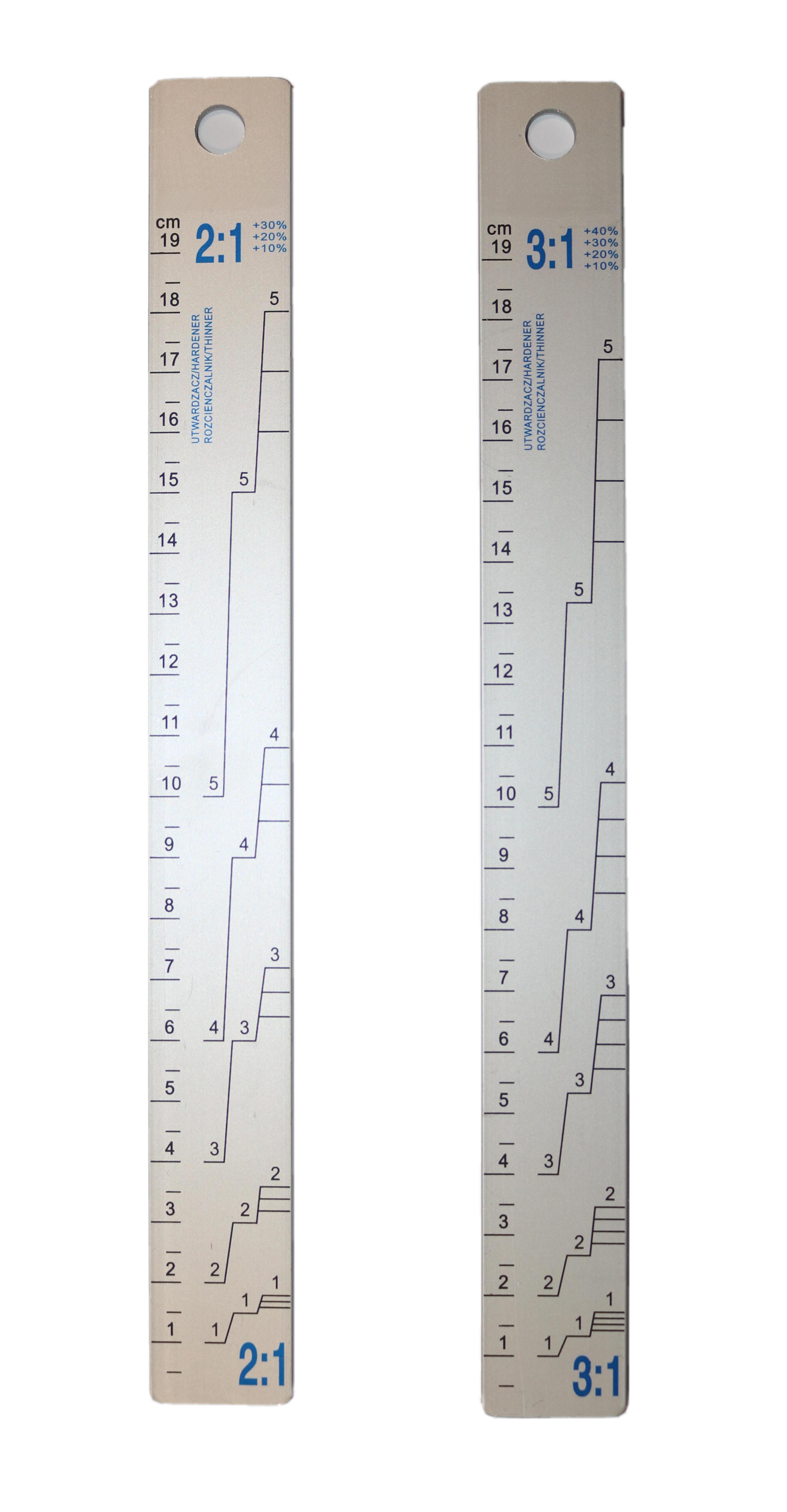 2K Farbmischstab 2:1 + 3:1 25 mm x 220 mm
