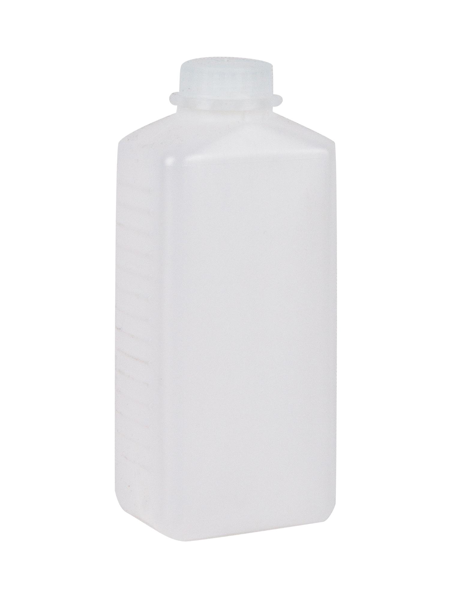 Plastikflasche mit Skala inkl. Deckel 1,0 L