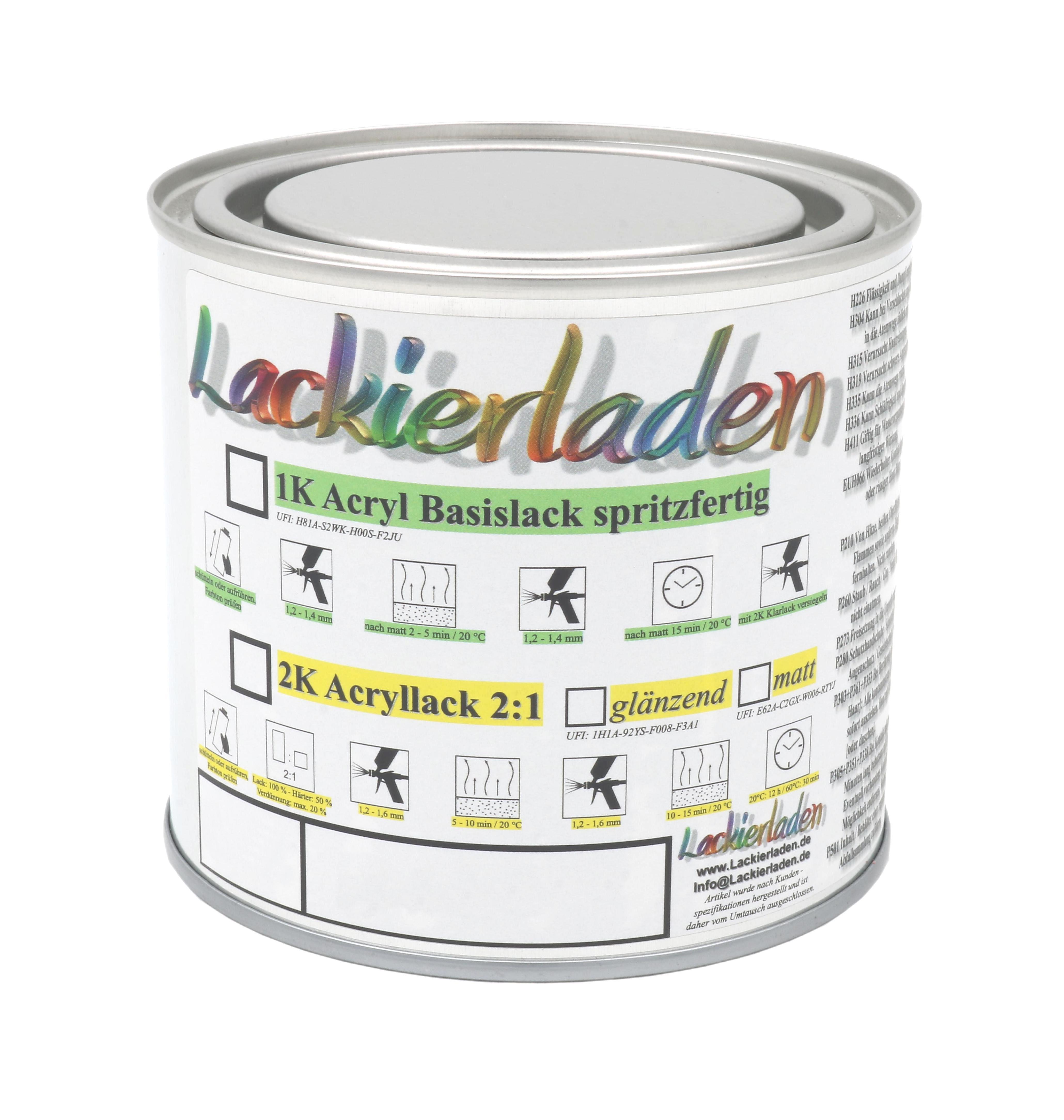 2K Acryl glänzend 0,5 Liter Autolack in RAL