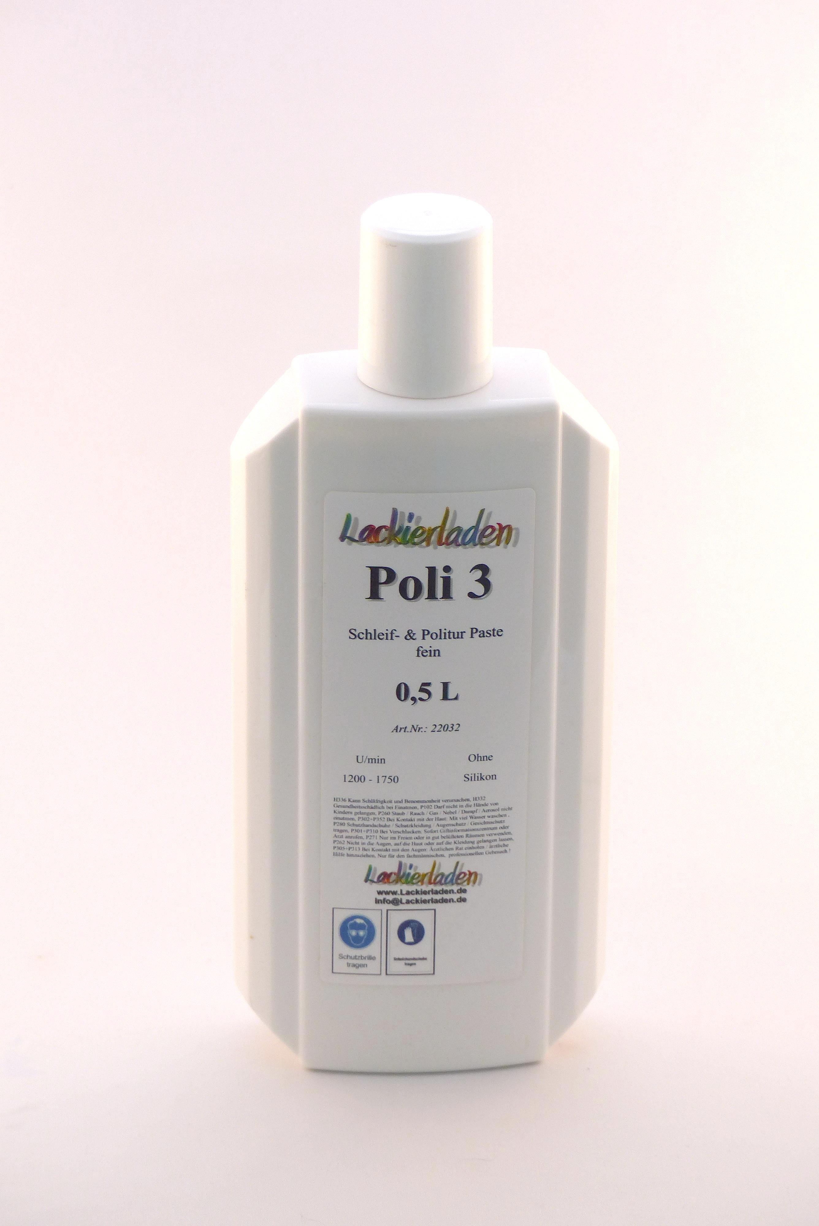 Poli 3 Schleif- & Politur Paste fein 0,5 L